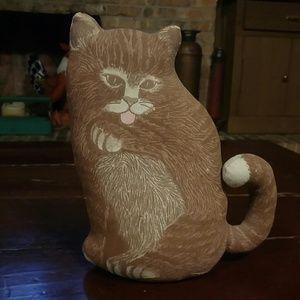Vintage Stuffed Cat Doorstop/Decor